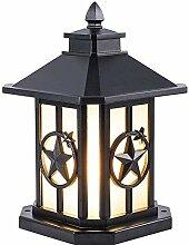 PAKUES-QO Pilier Extérieur, Lampe De Colonne De