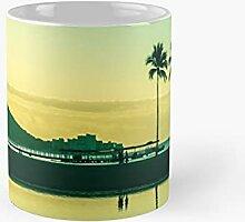 Palm Trees On Waikiki Beach Hawaii At Sunrise