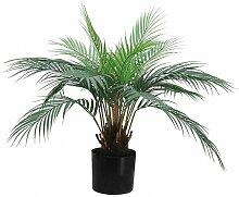 Palmier areca artificiel pot noir 57cm