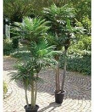 Palmier artificiel 1312 feuilles, 3 troncs, 150 cm