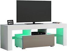 Panana – meuble TV avant brillant de 130cm,