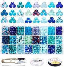 PandaHall Environ 700pcs 24 Perles de Styles