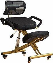 PANGPANGDEDIAN Genoux Chaise de Bureau Ergonomique