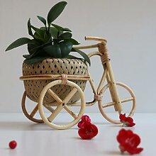 Panier à fruits en bambou tissé à la main,
