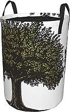 Panier à linge rond,Arbre fruitier imprimé arbre