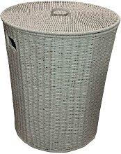 Panier à linge rond avec couvercle gris