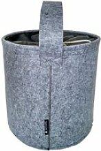 Panier à linge sitelo - gris perle -