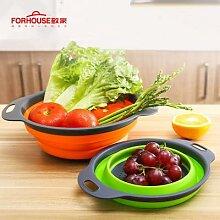 Panier de lavage de légumes, égouttoir pliable,