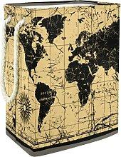 Panier De Rangement Boussole de carte du monde