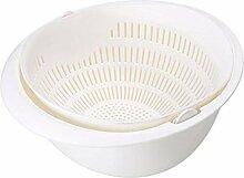 Panier De Vidange Double Drain Basket Bowl Washing