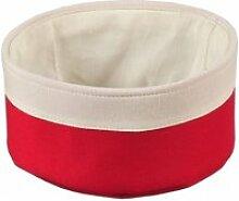 Panière à pain - corbeille en tissu - rouge