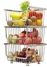 Paniers à fruits et légumes à 3 niveaux avec