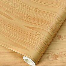 Papier Adhesif pour Meuble Bois Jaune 40cm X 3m