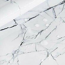 Papier Adhesif pour Meuble de Marbre Blanc 40cm X