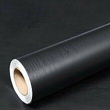 Papier Adhesif pour Meuble Noir Bois Papier Peint