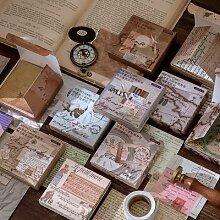 Papier carte du monde fleur, 100 pièces, papier