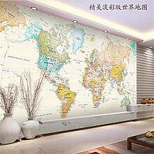 Papier peint 3D HD - Belle carte du monde -