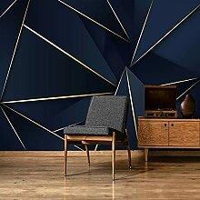 Papier Peint 3D,Moderne Bleu Foncé Ligne 3D Motif