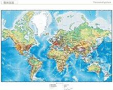 Papier peint 3D motif carte du monde pour salon,