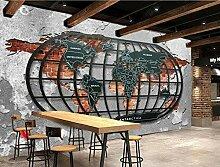 Papier Peint 3D Murale Carte Du Monde Vintage En