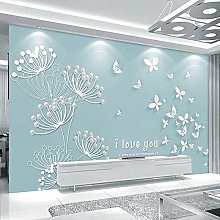 Papier Peint 3D,Papillon Bleu Abstrait Moderne