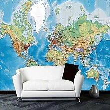 Papier peint 3D personnalisé carte du monde