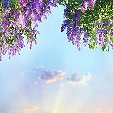 Papier Peint Adhesif Mural,Moderne Fleur Violette