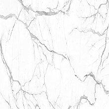 Papier Peint Adhesif Mural,Motif De Marbre Blanc
