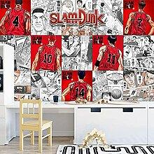 Papier peint Anime 3d rouge blanc slam dunk café