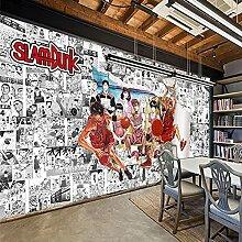 Papier peint Anime Couleur Slam Dunk 3D Café Lait