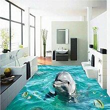 Papier peint de sol de dauphin mignon de salle de