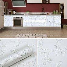 Papier Peint Étanche Auto-Adhésif Blanc Cuisine