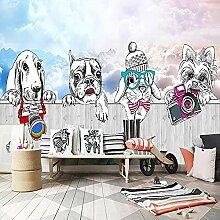Papier peint intissé Chien animal de dessin