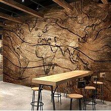 Papier peint Mural 3D motif carte du monde, carte
