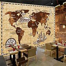Papier peint mural en 3D - Motif carte du monde