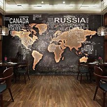 Papier peint Mural personnalisé carte du monde