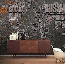 Papier peint mural rétro personnalisé en métal