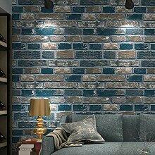 Papier peint non tissé vintage motif de briques