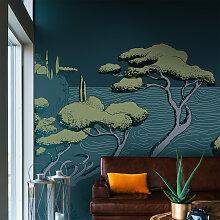 Papier peint panoramique calanques 170x250cm