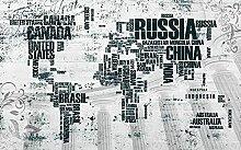 Papier Peint Panoramique Carte Du Monde Anglais