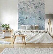 Papier peint panoramique intissé oiseaux Japonais