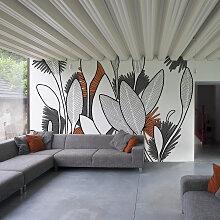 Papier peint panoramique végétal 170x250cm