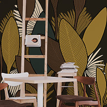 Papier peint panoramique végétal 255x250cm