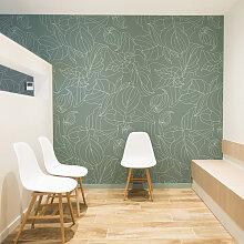 Papier peint panoramique vert 255x250