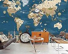 Papier peint personnalisé - Motif carte du monde