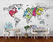 Papier peint personnalisé mur de briques blanches