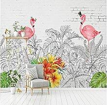 Papier peint photo personnalisé Nordic Flamingo