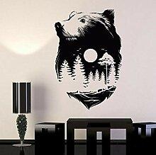 Papillon fille silhouette stickers muraux salon de