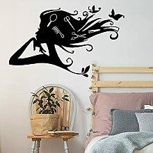 Papillon Salon De Coiffure Wall Sticker Fille