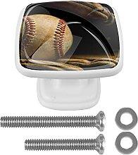 Paquet de 4 boutons d'armoire,Gant de baseball